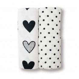 Lulujo Two Pack Swaddling Blankets