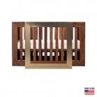 Lit pour bébé Nursery Works Lydian Noyer avec Or 24K