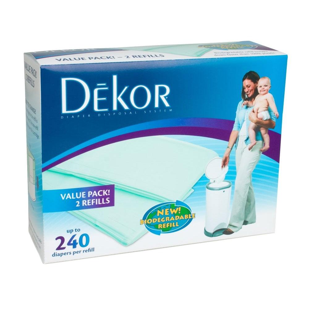 Dekor scented refill bags dekor junior baby for Dekor diaper pail refills
