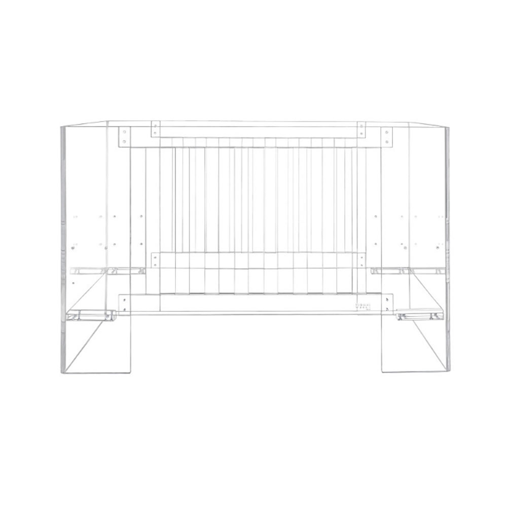 Nursery Works Vetro Clear/Shadow Crib