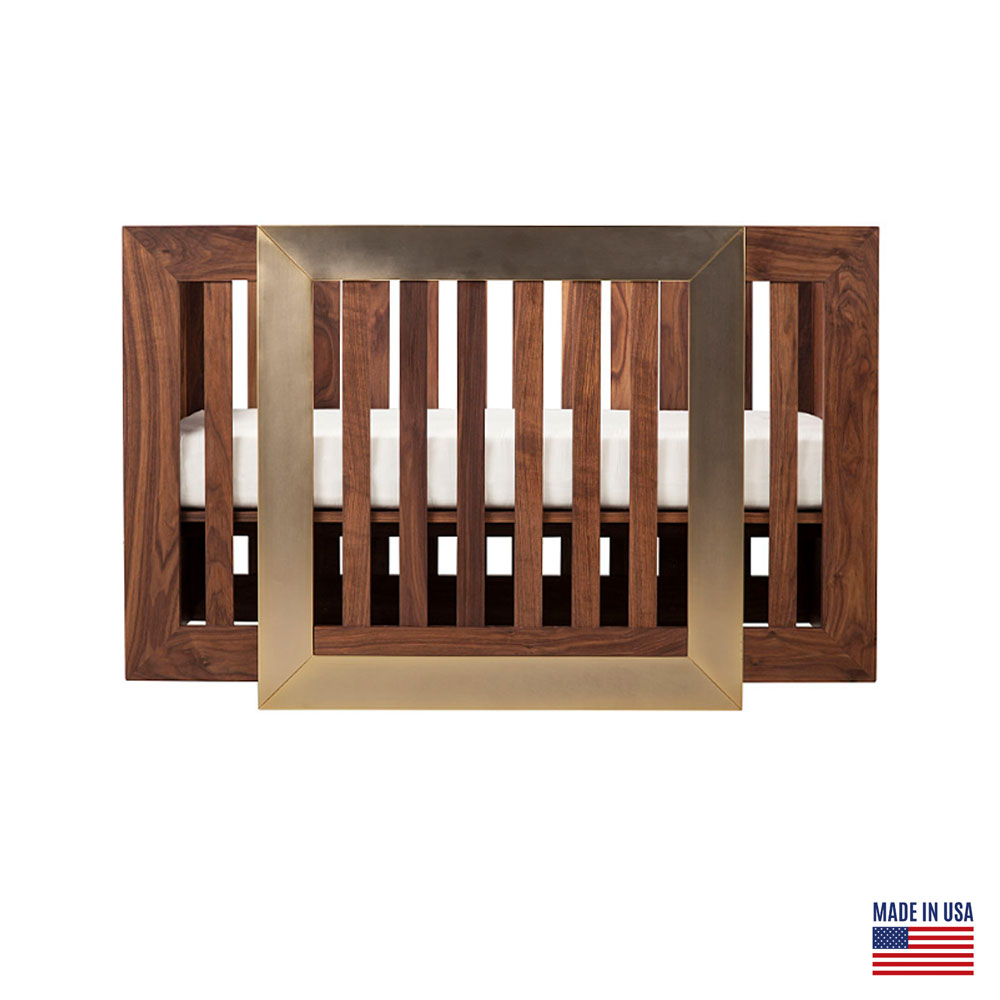 Nursery Works Lydian Walnut with 24K Gold Crib