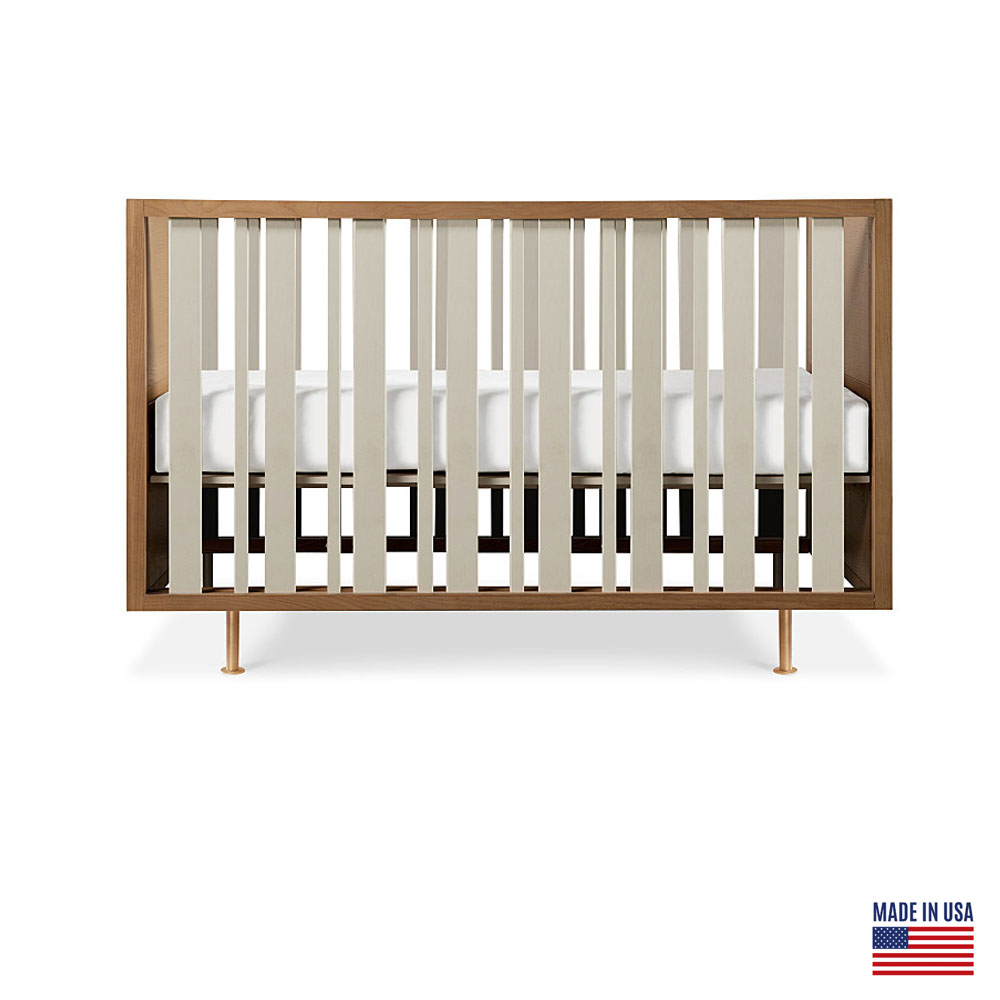 Nursery Works Novella Stain Ash and Ivory Crib