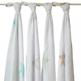 Aden and  Anais 4 pack Muslin Swaddles