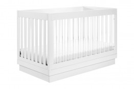 Babyletto Harlow 3 in 1 Acrylic and White Crib