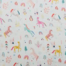 Loulou Lollipop Muslin Fitted Crib Sheet