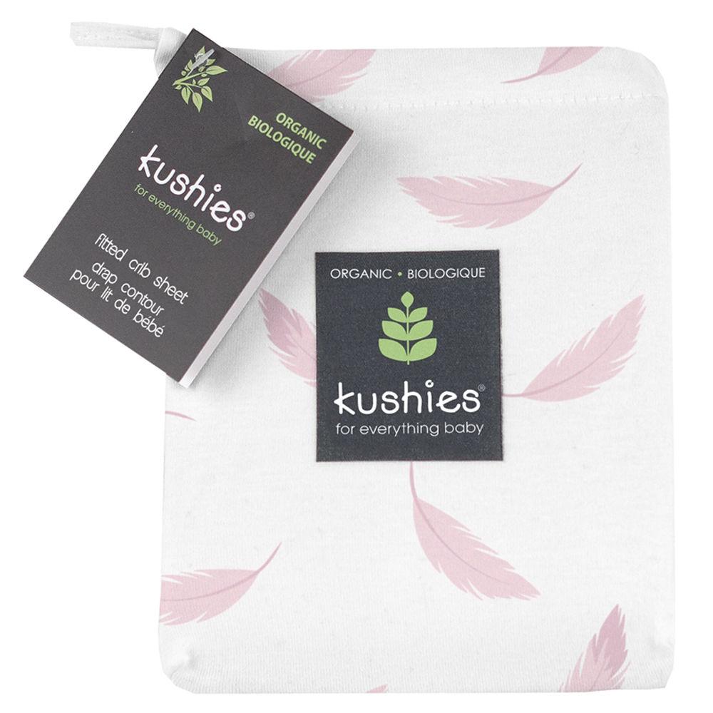 Kushies Organic Jersey Fitted Crib Sheet