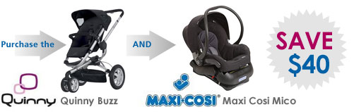 Buy a Quinny Buzz  Stroller & Maxi Cosi Mico & Save $40
