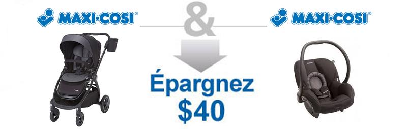 Achetez une poussette Maxi Cosi Adorra & Siège d'auto Maxi Cosi Mico Max & Epargnez $40