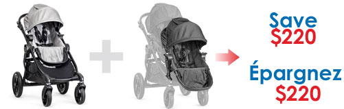 Buy a Baby Jogger City Select Black and Second Seat Black and SAVE $220